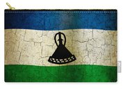 Grunge Lesotho Flag Carry-all Pouch