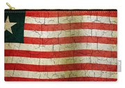 Grunge Liberia Flag Carry-all Pouch