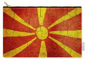 Grunge Macedonia Flag Carry-all Pouch