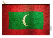 Grunge Maldives Flag Carry-all Pouch