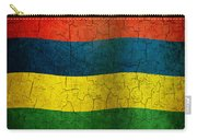 Grunge Mauritius Flag Carry-all Pouch