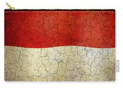 Grunge Monaco Flag Carry-all Pouch
