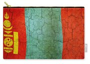 Grunge Mongolia Flag Carry-all Pouch