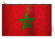 Grunge Morocco Flag Carry-all Pouch