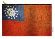 Grunge Myanmar Flag Carry-all Pouch
