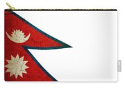 Grunge Nepal Flag Carry-all Pouch