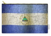 Grunge Nicaragua Flag Carry-all Pouch