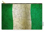 Grunge Nigeria Flag Carry-all Pouch