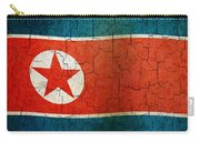 Grunge North Korea Flag Carry-all Pouch