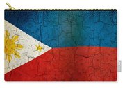 Grunge Philippines Flag Carry-all Pouch