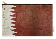 Grunge Qatar Flag Carry-all Pouch
