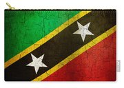 Grunge Saint Kitts And Nevis Flag Carry-all Pouch