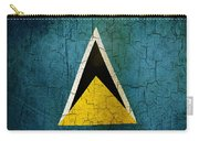 Grunge Saint Lucia Flag Carry-all Pouch