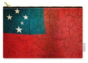 Grunge Samoa Flag Carry-all Pouch