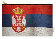 Grunge Serbia Flag Carry-all Pouch