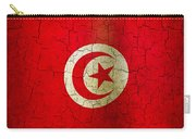 Grunge Tunisia Flag Carry-all Pouch