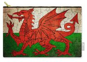 Grunge Wales Flag Carry-all Pouch