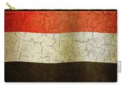 Grunge Yemen Flag Carry-all Pouch