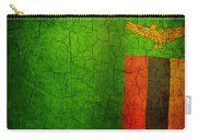 Grunge Zambia Flag Carry-all Pouch