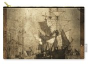 Grungy Historic Seaport Schooner Carry-all Pouch by John Stephens