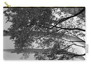 Guggenheim And Trees In Black And White Carry-all Pouch
