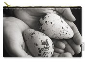 Guillemot Eggs Black And White Carry-all Pouch