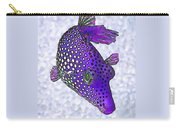 Guinea Fowl Puffer Fish In Purple Carry-all Pouch