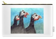 Guinea Hen Rooster Trio Farm Ranch Animal Art Carry-all Pouch