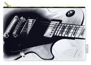 Guitar - Black And White Carry-all Pouch