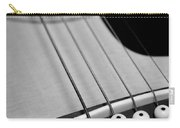 Guitar Bridge In Black And White Carry-all Pouch