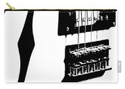 Guitar Graphic In Black And White  Carry-all Pouch