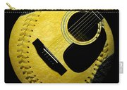 Guitar Yellow Baseball Square Carry-all Pouch