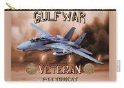 Gulf War Veteran F-14 Tomcat  Carry-all Pouch