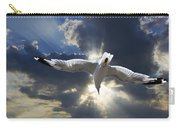 Gull Flying Under A Radiant Sunburst Carry-all Pouch