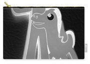Gumby And Pokey B F F In Negative Black And White Carry-all Pouch