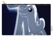Gumby And Pokey  B F F In Negative Cyan Carry-all Pouch