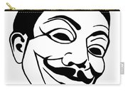 Guy Fawkes Face Original Pop Art Painting Carry-all Pouch