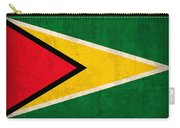 Guyana Flag Vintage Distressed Finish Carry-all Pouch