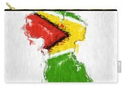 Guyana Painted Flag Map Carry-all Pouch