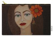 Gypsy With Green Eyes Carry-all Pouch