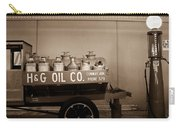 H And G Oil Company In Sepia Carry-all Pouch