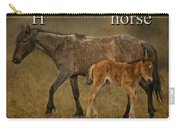 H Is For Horse Carry-all Pouch