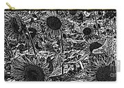 H2 Sunflowers Map Bw Carry-all Pouch