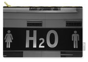 H2o In Black And White Carry-all Pouch