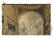 Haghia Sophia, Plate 24 Interior Carry-all Pouch by Gaspard Fossati