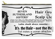 Hair Treatment Ad, 1894 Carry-all Pouch