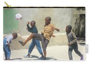 Haitian Boys Playing Soccer Carry-all Pouch