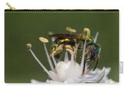 Halicid Bee Amongst The Anthers Carry-all Pouch