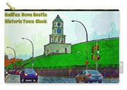 Halifax Historic Town Clock Poster Carry-all Pouch