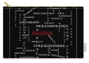 Halifax Nova Scotia Crosswords Red Carry-all Pouch